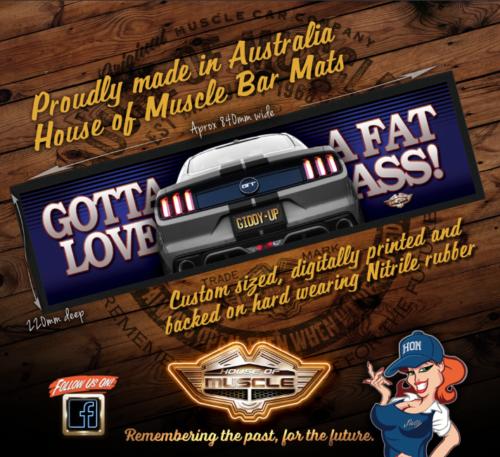 MUSTANG GT BAR MAT
