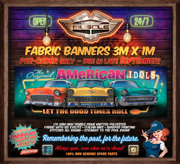 CHEVY FABRIC BANNER