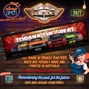 HOLDEN TORANA BAR MAT